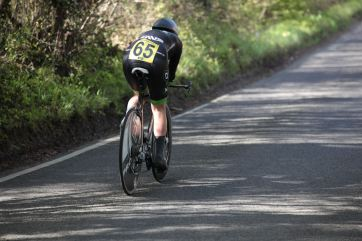 An image of a woman on a time trial bike