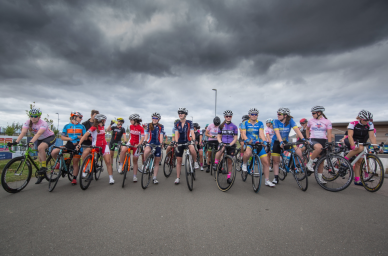 Cyclopark start line on a windy day